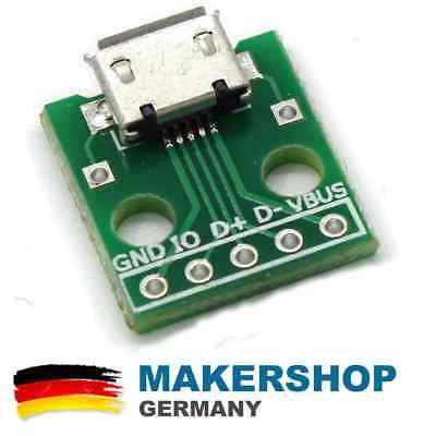 Breakout-modul (Micro USB Breakout Modul Board Platine Mikro Dip Dil Adapter Arduino 5-Pin)