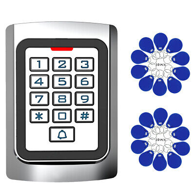 Access Control System 125KHz RFID Reader+20RFID Keyfobs Home Hotel security for sale  Shipping to Nigeria
