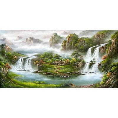 Asian style Modern Huge WALL Decor landscape Art Oil Painting canvas (no framed) on Rummage
