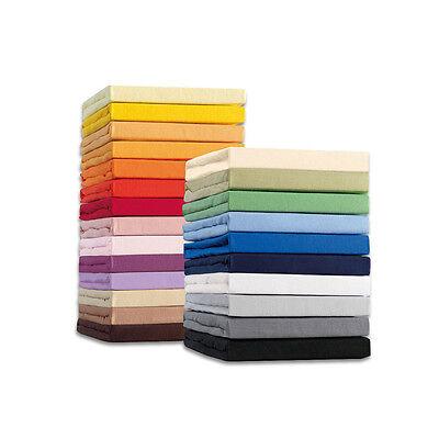 Spannbettlaken Jersey Spannbetttuch 100% Baumwolle 90x200 - 100x200 cm Schwarz