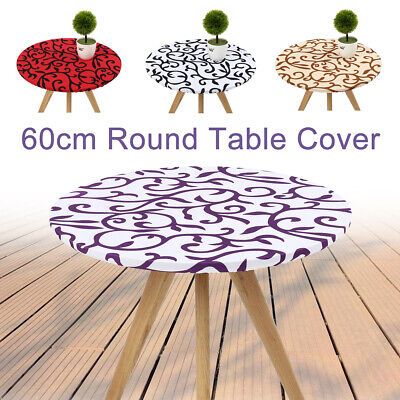 round edged spandex fitted stretch tablecloth table