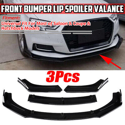 For AUDI A3 A4 A5 S3 S4 S5 RS5 S-line Front Bumper Lip Spoiler Splitter Black