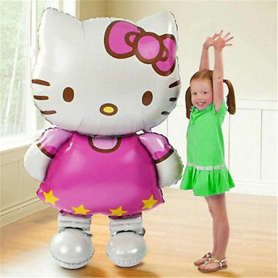 70*114cm Hello Kitty Helium Foil Balloon Wedding Birthday Party Decor Kids Gift (70 Birthday Balloons)