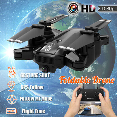1080P Wifi Follow Me RC HD Camera Drone Aircraft Foldable Quadcopter Selfie