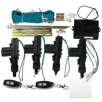 Universal 2/4 Door Car Central Door Lock Locking Remote Kit Keyless Entry System