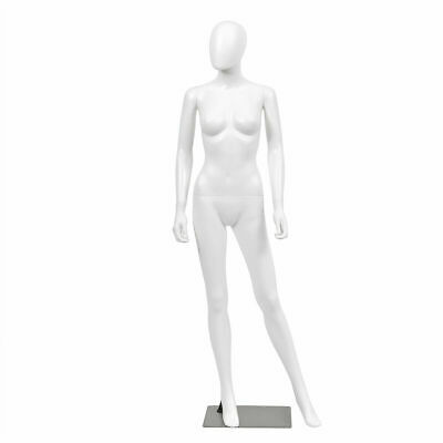Female Mannequin Egghead Plastic Full Body Dress Form Display