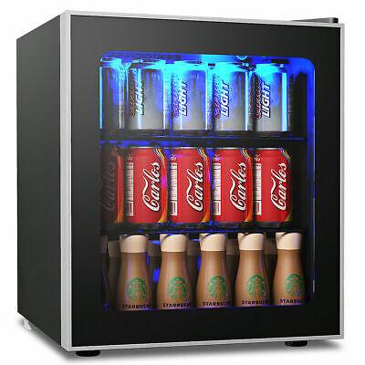 60 Can Beverage Refrigerator Beer Wine Soda Drink Cooler Min