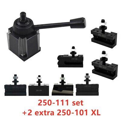 Axa 250-111 Wedge Tool Post Holder Set For Lathe 6 - 12 Plus 2 Extra 250-101 Xl