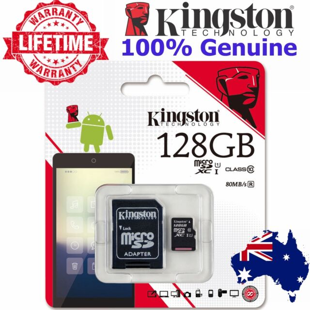 Micro SD Card 128GB Kingston Class10 SDHC SDXC Memory Card Mobile Camera Tablet