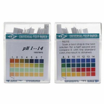 100pcs Ph Indicator Test Strips 1-14 Test Paper Water Litmus Tester Urine Saliva