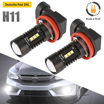 2x H11 H9 H8 LED Nebel Scheinwerfer 12V 55W COB 6000K Xenon Weiß Auto Lampen Kit