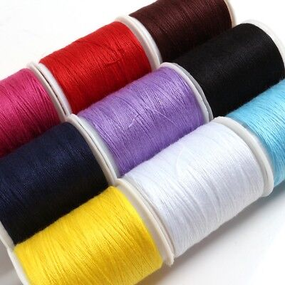 9x COLOURFUL THREAD SPOOLS Bright Sewing Machine Hand Sew Handcrafting Stitching
