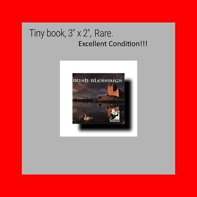 "☆RARE%only1Ebay-TINY 3""BOARD BOOK:IRISH BLESSINGS(COASTERBOOKS)IRELAND SAYING☆"