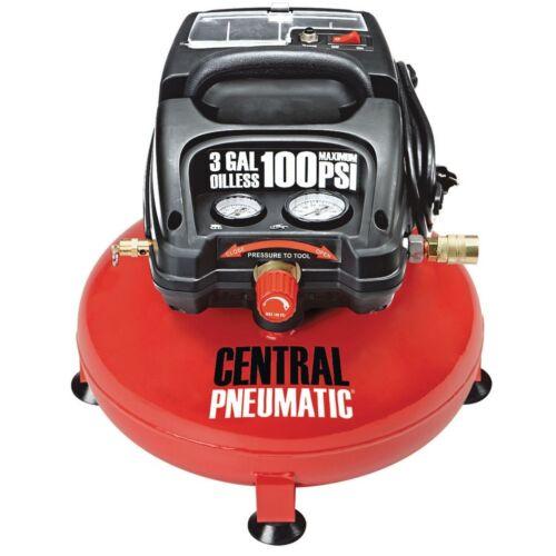 1/3 Horsepower, 3 Gallon, 100 PSI Oilless Portable Pancake Air Compressor FEDEX