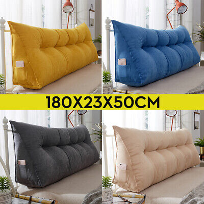 Backrest Pillow Reading Support Triangular Wedge Soft Headboard DayBed -