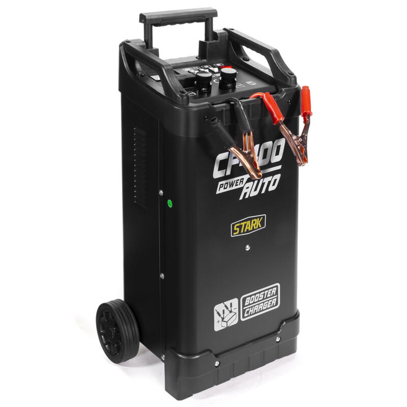 300 Amp 12/24V Automatic Battery Charger w/ Engine Jump Start Telescopic Handle