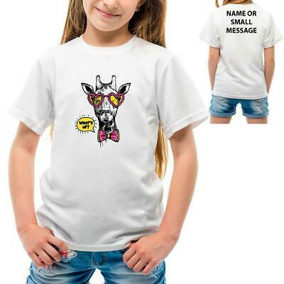 Giraffe With Glasses Hipster Cute FUnny Animal Summer Girls Children (Girls With Hipster Glasses)