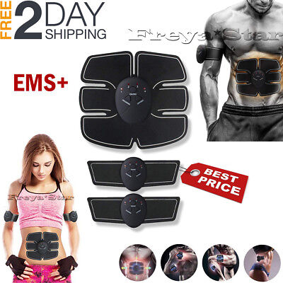 Electric Muscle Toner EMS Machine Wireless Toning Belt 6 Six Pack Abs Fat Burner