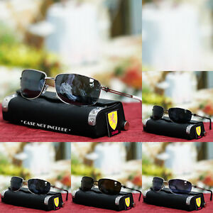 NEW-MENS-KHAN-AVIATOR-SUNGLASSES-SPORTS-MOTOR-BIKER-DRIVING-FASHION-SHADES-BLACK