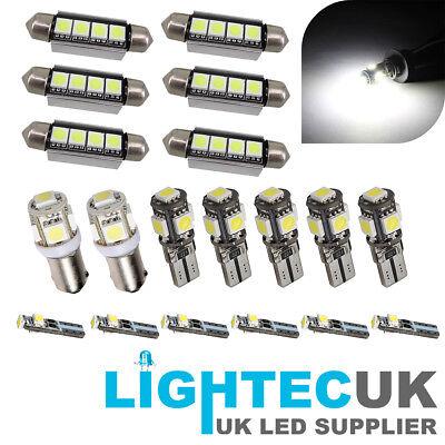 SAAB 9-3 93 19pc PURE WHITE CANBUS LED INTERIOR UPGRADE LIGHT KIT SET 02->