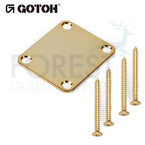 Gotoh-NBS3-neck-joint-plate-Fender-style-gold-with-screws