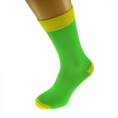 Lime Mens Socks with Yellow heal and toes, popular Wedding Day Socks...