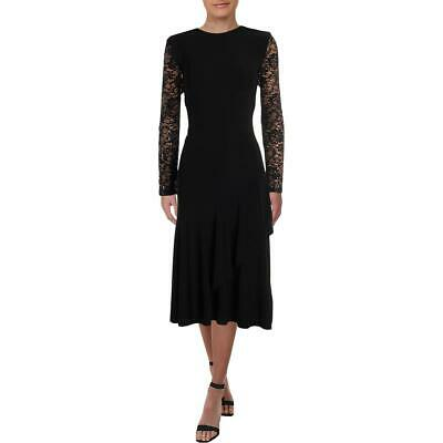 Lauren Ralph Lauren Womens Ilan Lace Long Sleeves Midi Cocktail Dress BHFO 1052