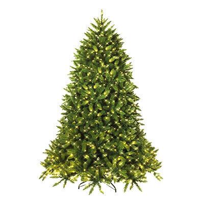 6ft Pre-lit Artifical Christmas Fir Tree Hinged w/ 650 LED Light 8 Flash Modes