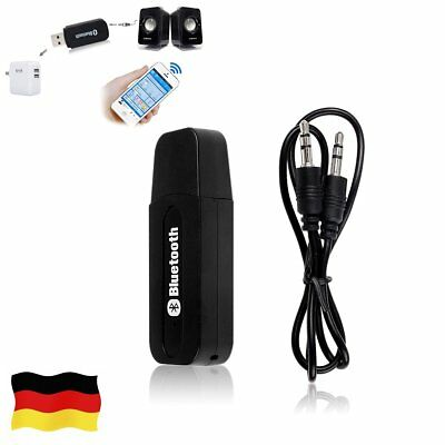 Bluetooth Audio Receiver KFZ Adapter AUX Kabel Auto Lead Klinke USB Empfänger DE