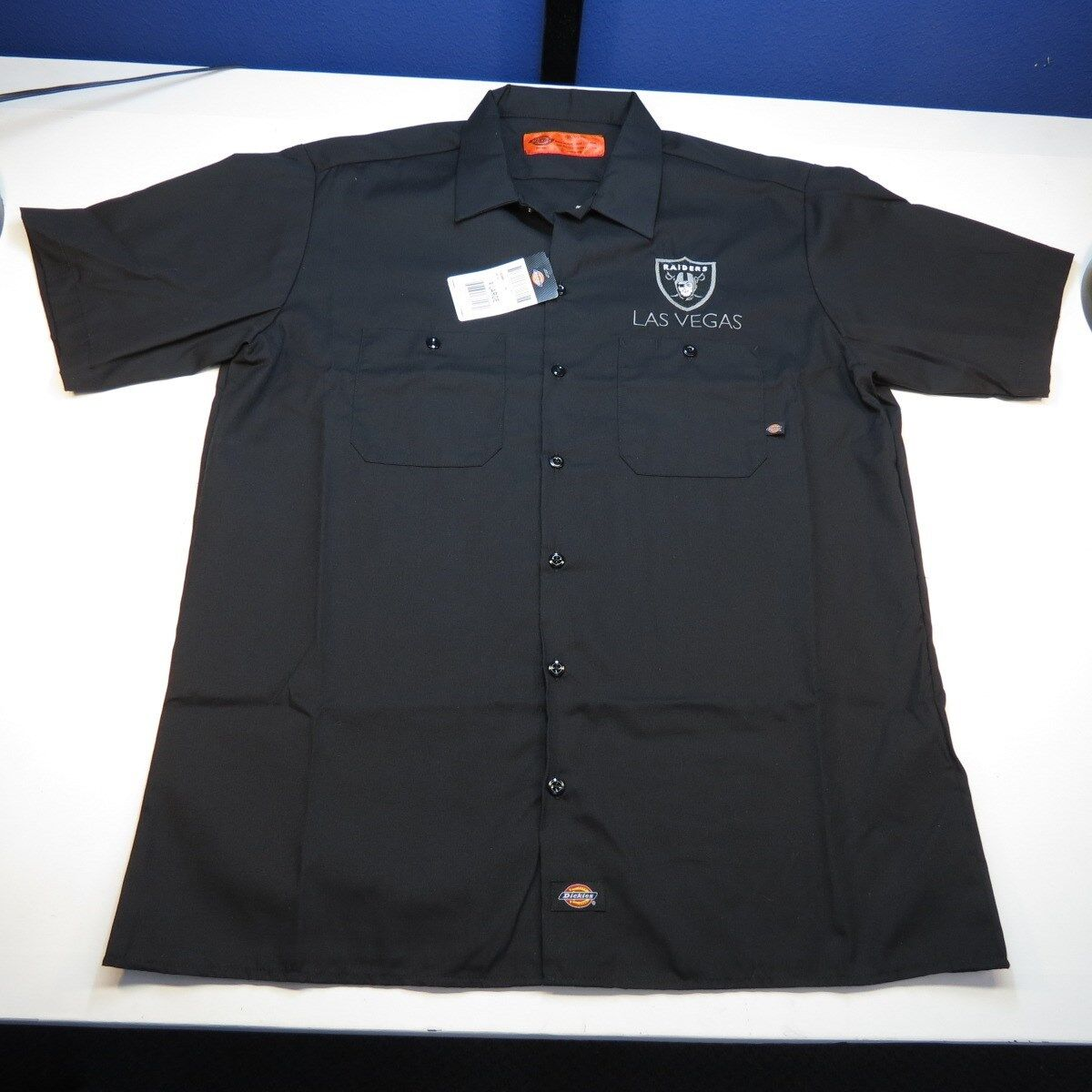 New nwt dickies las vegas raiders football embroidered for Embroidered dickies work shirts