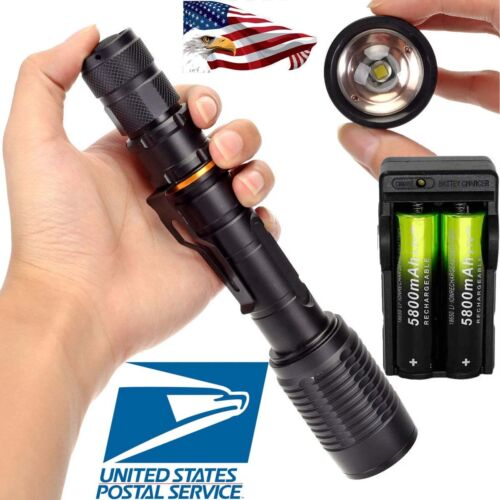 80000LM T6 LED 5Mode 18650 Led Flashlight Super Bright Torch Waterproof  MO