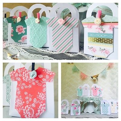 Vintage Shabby Chic Outfit Thank You favor boxes for Baby Shower Super Cute! Chic Baby Shower Favors