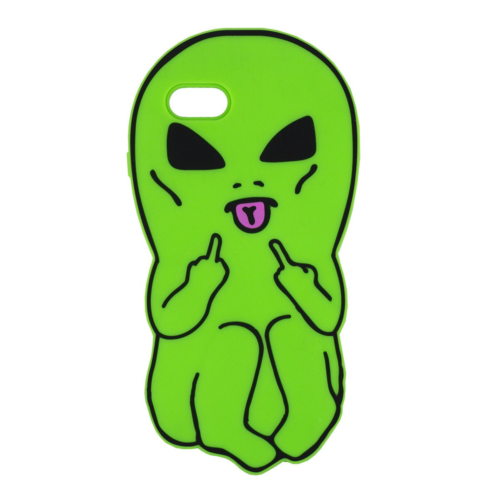 iPhone X 8 7 6s Rubber 3D Case Cute Cartoon Alien Silicone Phone Cover For Apple