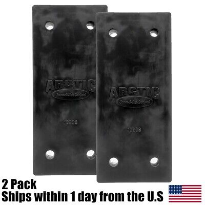 2pk Oem Arctic Bottom Poly Mounting Block 10208 For Arctic Ld Sectional Plows