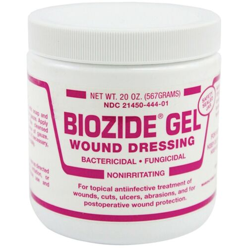 Biozide Gel 20 oz Treatment of Wounds Cuts Abrasions Dogs Cats Cattle Horses