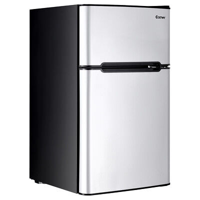 Stainless Blade Refrigerator Small Freezer Cooler Fridge Compact 3.2 cu ft. Unit