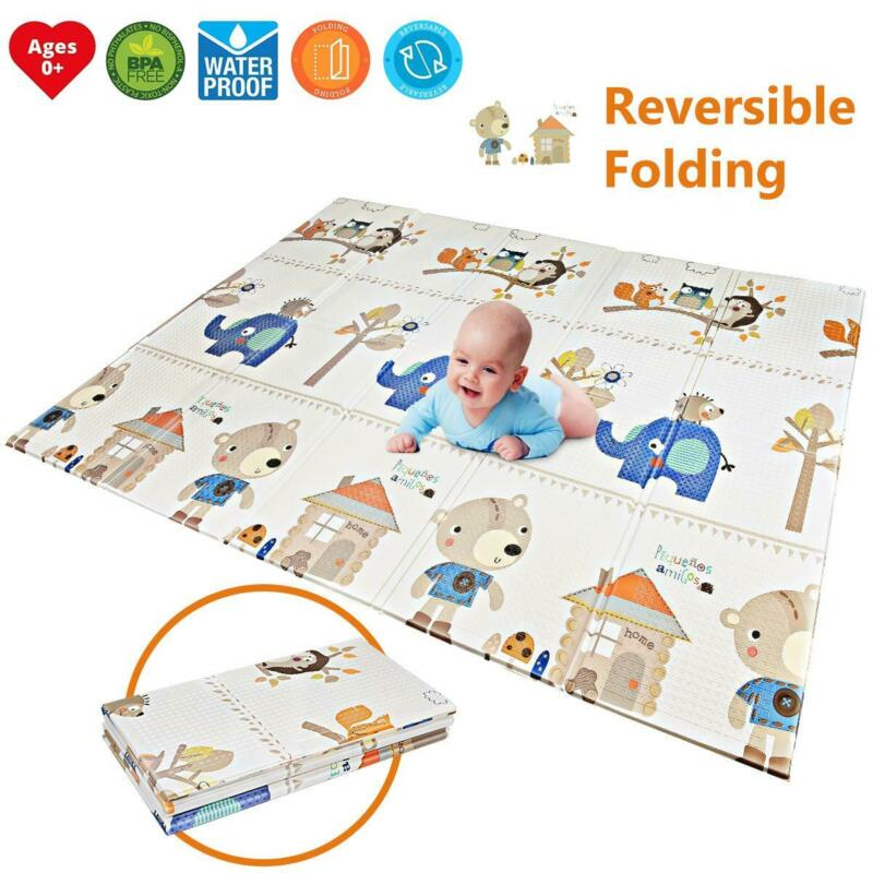 Foldable Baby Play Mat Crawling Mat Waterproof Floor mat Creeping Blanket