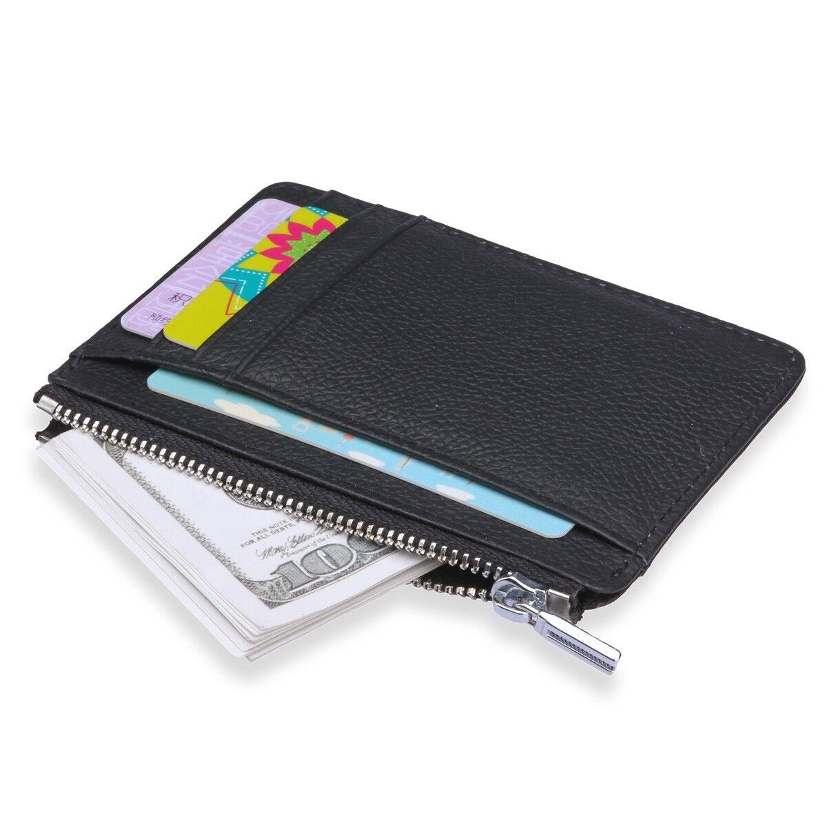2019 Slim Minimalist Front Pocket Leather Wallet for Men Wom