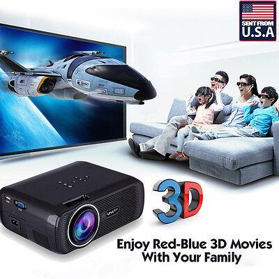 7000 Lumens HD Home Theater Multimedia LED Video Projector 1080P 3D HDMI TV VGA