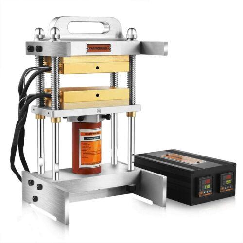 "12 Ton Heat Press Machine - Dual 4x7"" Heated Platens - No Pump Included"