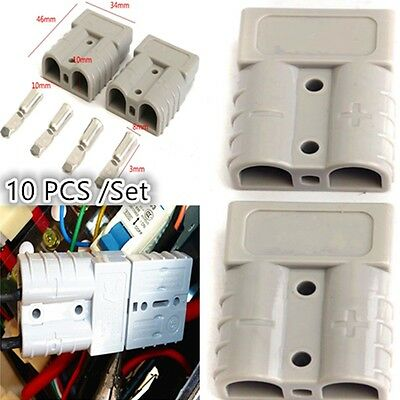 10 Pcs Battery Connector Set Cable Wire Quick Connect Battery Plug 50A 6AWG Kit Quick Connect Batterie