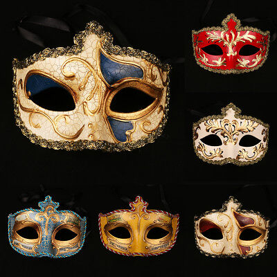 Colorful Masquerade Mask Mardi Gras Mask for Women Venetian Party Prom Ball  ()