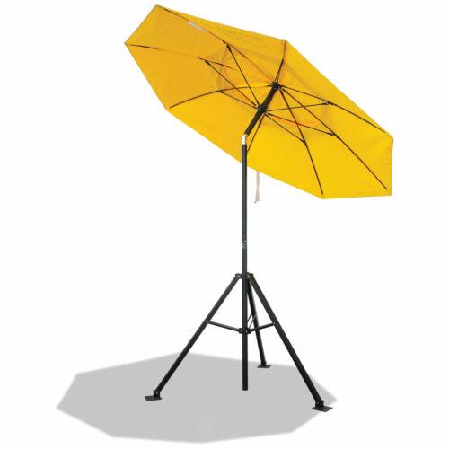Revco Black Stallion Flame Resistant Industrial Umbrella & Tripod Stand Combo