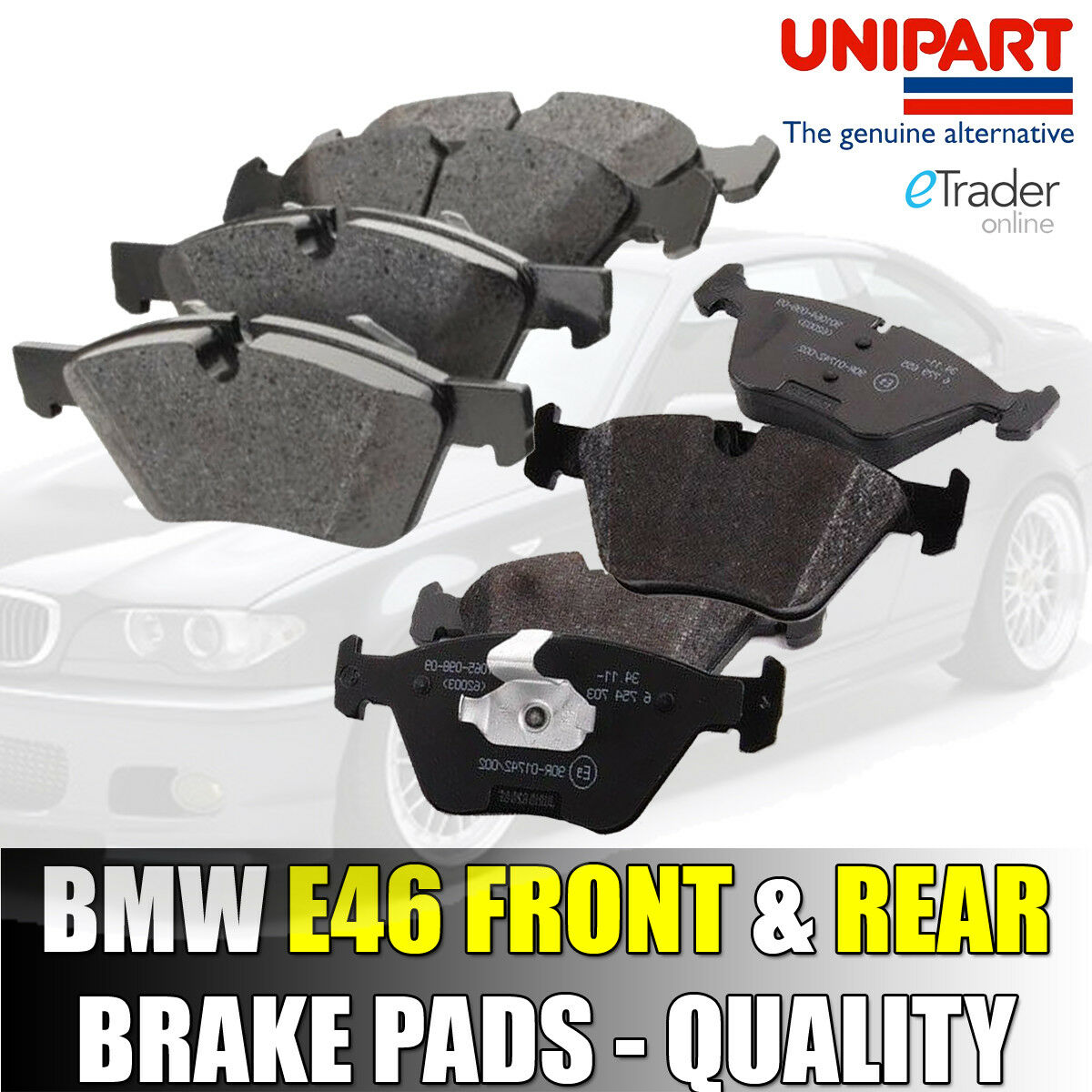 New Fits BMW 3 Series E46 320d Genuine Mintex Rear Brake Pads Set