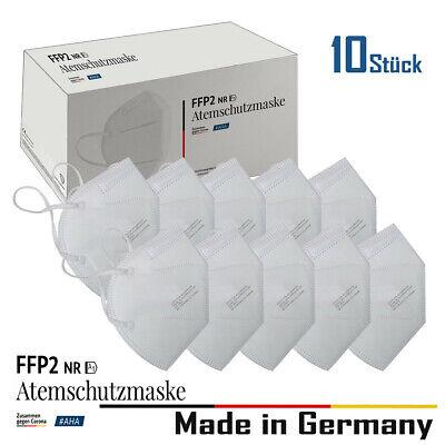 10x FFP2 Maske Mundschutz Atemschutzmaske Masken Deutsche Herstellung ⚫️