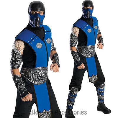 bat Subzero Ninja Fancy Halloween Costume Outfit + Mask (Sub-zero Maske Halloween)
