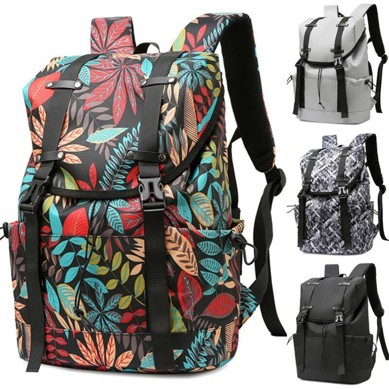 Women Men Waterproof Backpack Large Rucksack School Laptop B