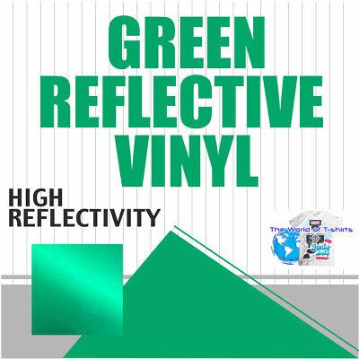 Green Reflective Vinyl Adhesive Cutter Sign Hight Reflectivity 24 X 10 Ft