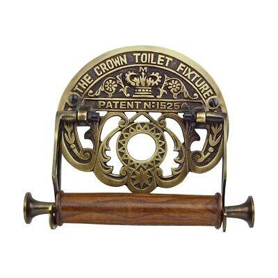 Toilet Paper Holder Antique Brass Crown Tissue Holder | Renovator's Supply