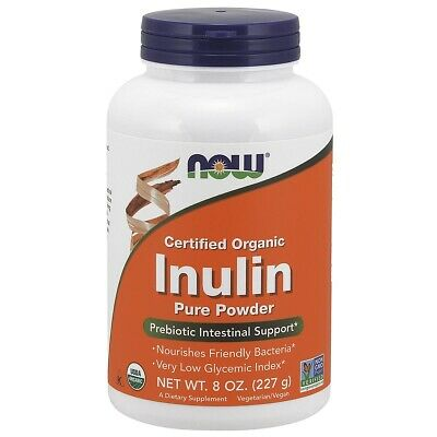 NOW Foods Inulin Prebiotic Fos, 8 Ounce
